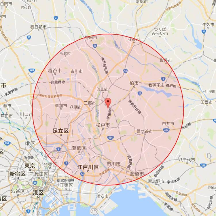 訪問範囲マップ